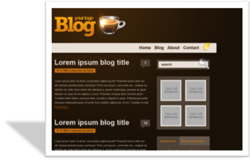 Orange coffee шаблон для wordpress