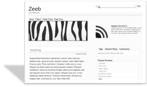 Zeeb шаблон для wordpress