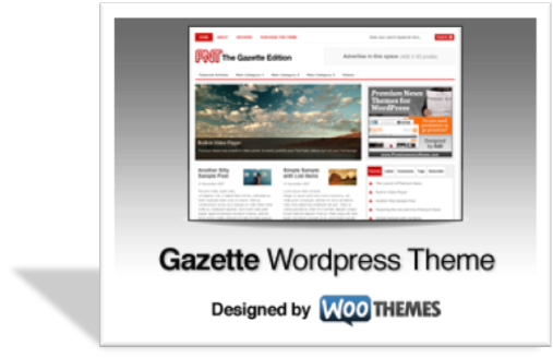 Gazette шаблон для wordpress